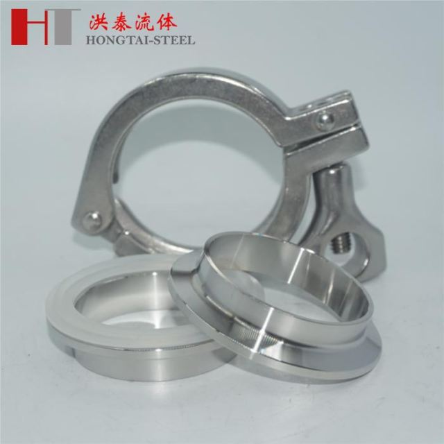 Stainless Steel Tri-Clover Clamp + Sanitary Pipe Weld